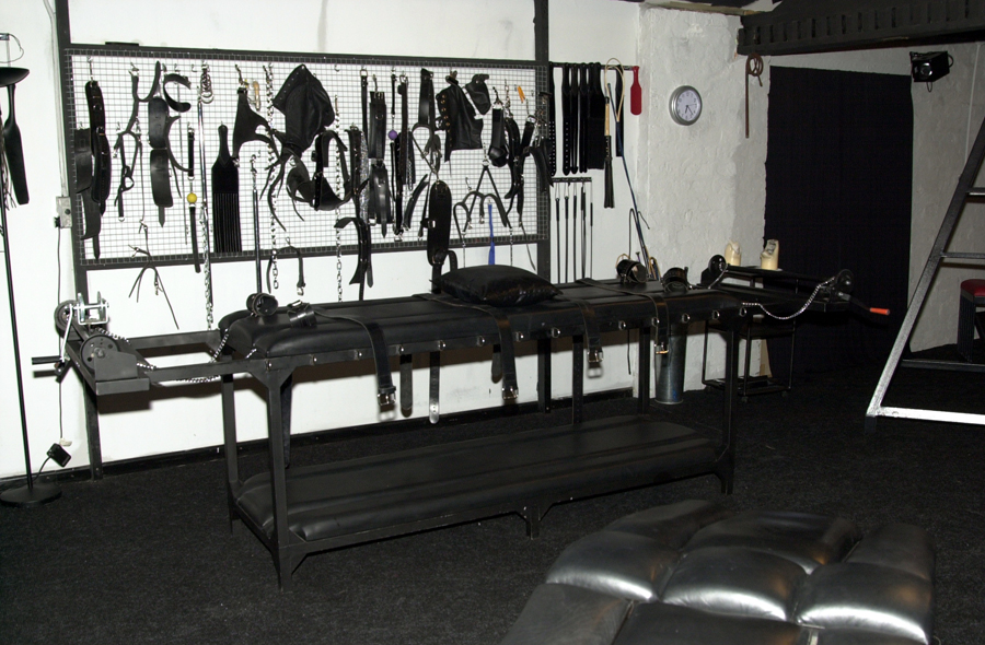 The Facility dungeon's leather rack and tools, Birmingham, England