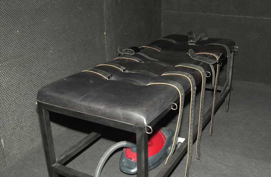 The Facility dungeon's bondage bench, Birmingham, England